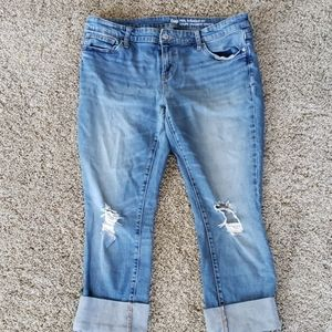 Gap distressed real straight fit crops
